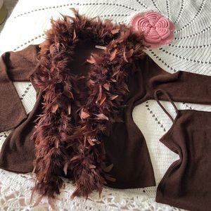NWOT ✨ Feather Cardi and Cami Set